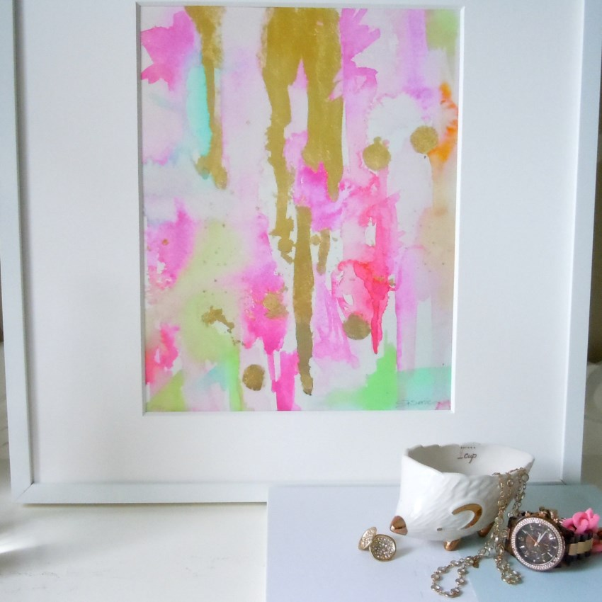 Abstract art from Etsy shop Lime Zinnias Design