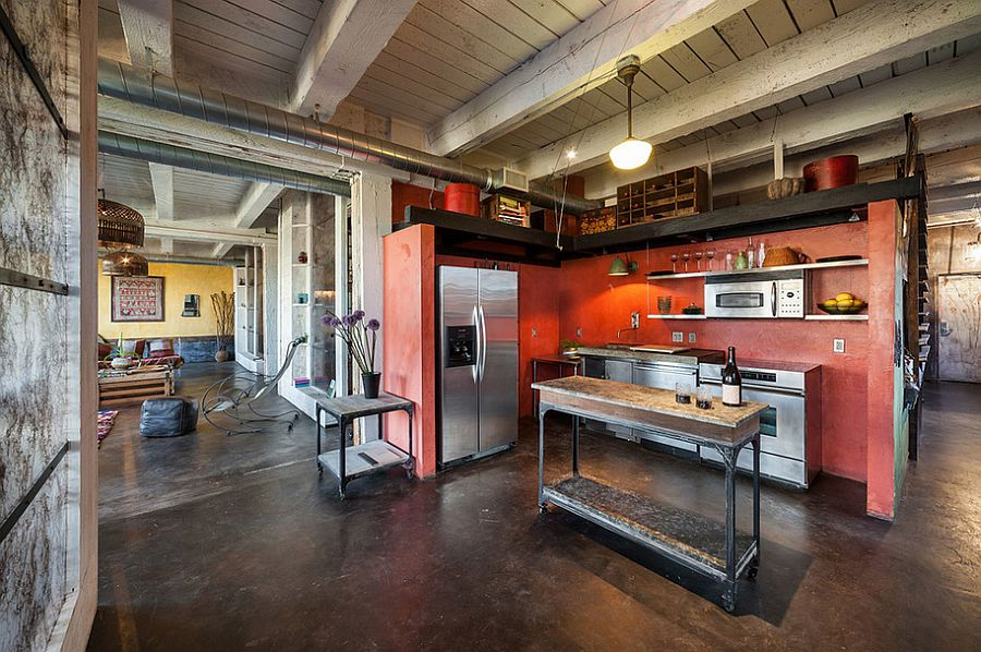 Add some color to your spacious loft-styled kitchen [From: KuDa Photography]