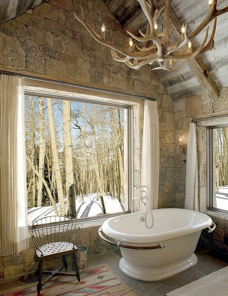 Antler light and large windows provide a balance of natural and artificial lighting [Design: Big-D Signature]