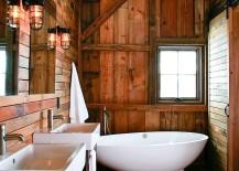 Barn-style-bathroom-with-a-smart-white-standalone-bathtub-217x155