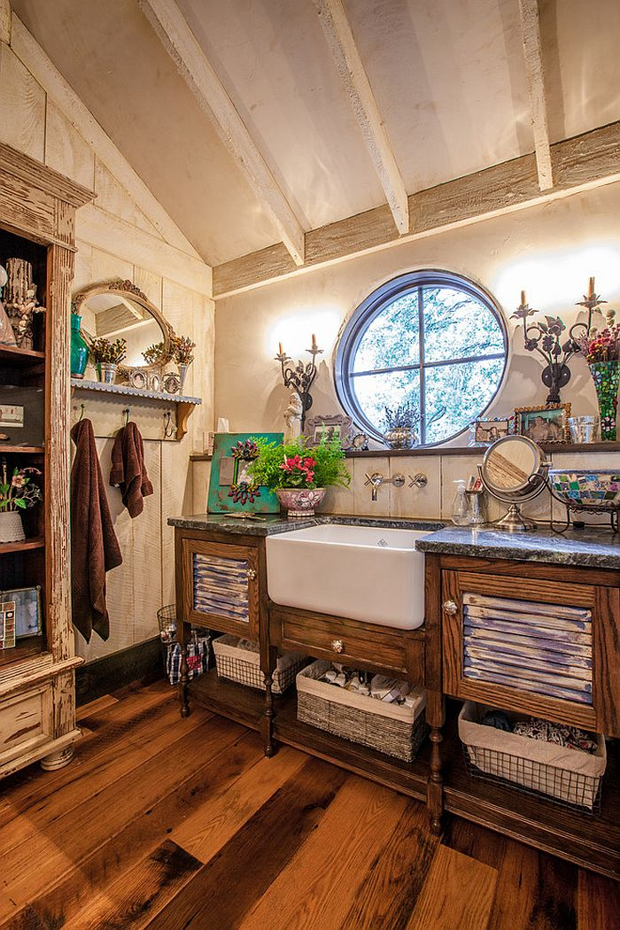 Bathroom organization solutions for those who love rustic style [Design: Key Residential]