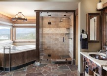 Bathtub-and-glass-shower-area-make-use-of-the-corner-space-217x155