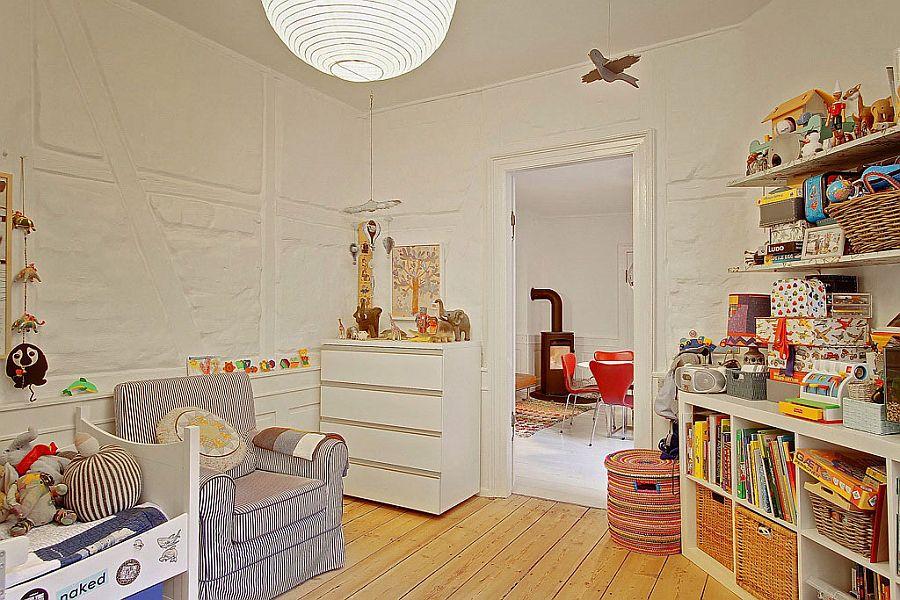 Beautiful kids' nursery design with ample storage space