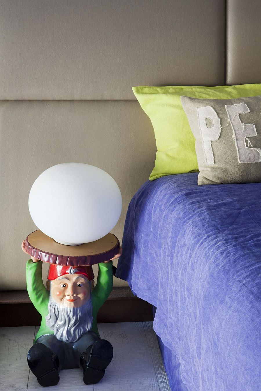 Bedside gnome lighting is perfect for thos who love the uncanny