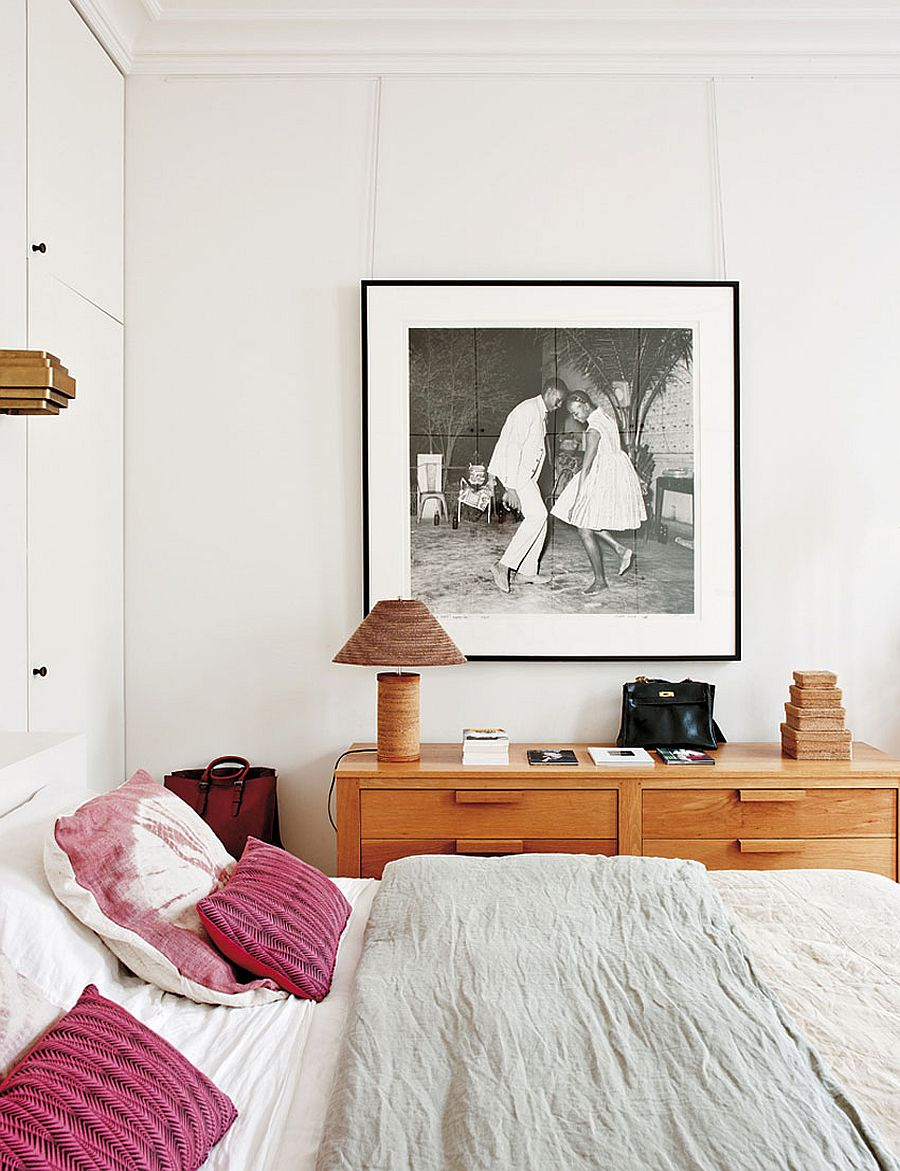 Bedside table that offers ample storage space