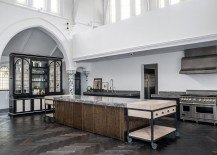 Bespoke kitchen from church conversion with a restrained industrial style [Design: Rupert Bevan]