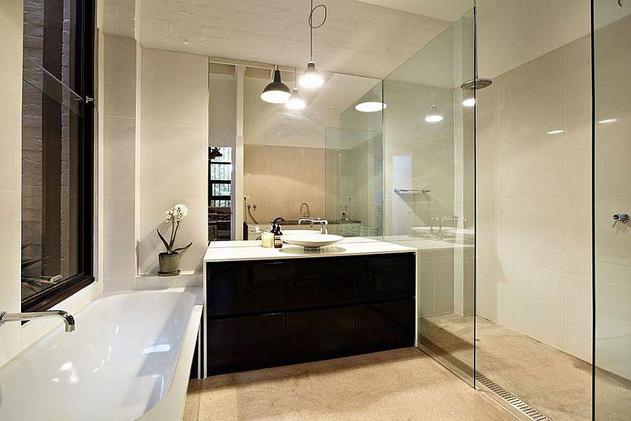 bathroom lighting melbourne. View In Gallery Black And White Bathroom Vanity Lovely Lighting Shape The Beautiful Melbourne U