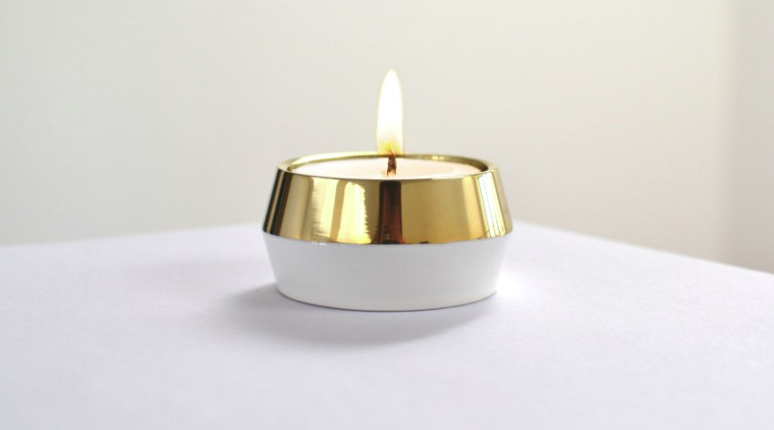 Brass tea light holder from Jam Furniture