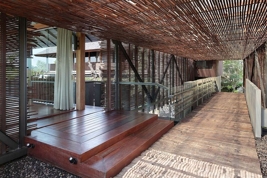 Breezy walkways connect the interior of the Bali Villa with the generous landscape outside