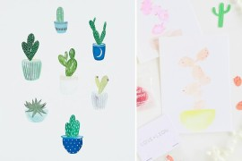 Cactus art makes the perfect party backdrop  Summer Party Ideas for a Festive Season Cactus art makes the perfect party backdrop