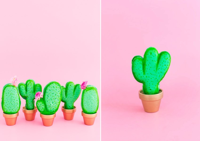 Cactus macarons from Sugar & Cloth