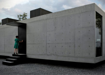 Exterior of Casa 2G concrete house