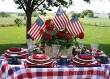 Charming Red White and Blue Tablescape for Memorial Day 217x155 Festive Red, White and Blue Tablescape Ideas for a Sizzling 4th of July!