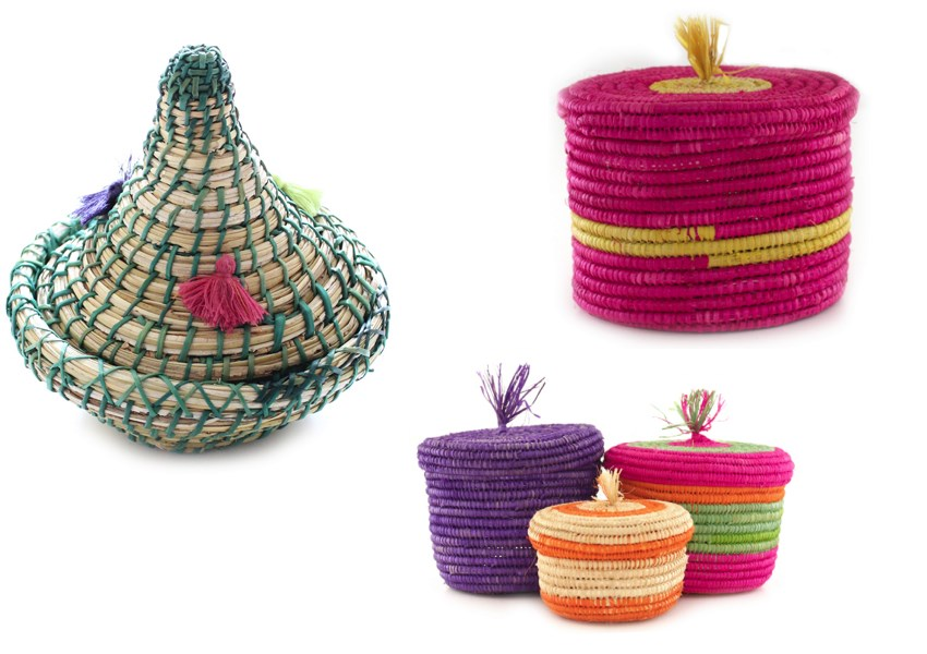 Colorful baskets from Baba Souk