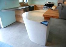 Concrete and Agate Countertop for the kitchen island