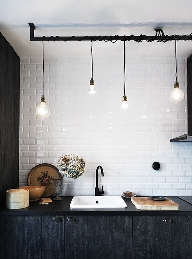 Cool industrial pendant lighting idea for the contemporary Cool bathroom lighting ideas