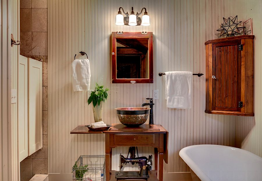 Creative use of swinging doors for the shower area [Design: Michelle Fries, BeDe Design]