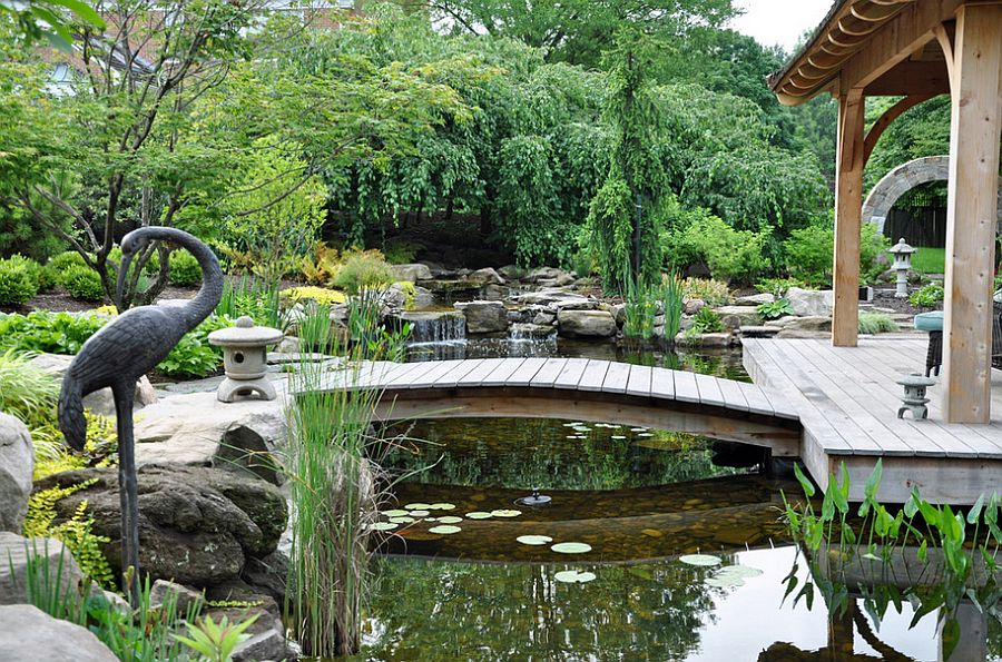 50 dreamy and delightful garden bridge ideas for Small japanese ponds