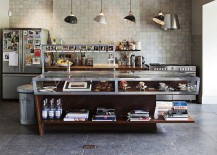 Custom island design for the cool industrial kitchen