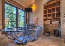 Custom tub designed by Suzanne Allen