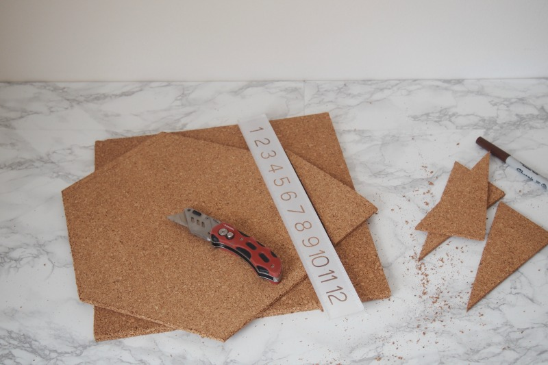 Diy A Quick And Easy Hexagon Cork Board