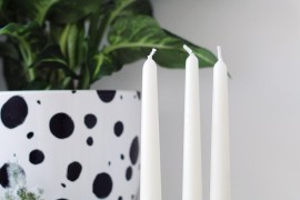 DIY black marble candle holders from Fall for DIY  10 DIY Projects with Marble Style DIY black marble candle holders from Fall for DIY 270x180
