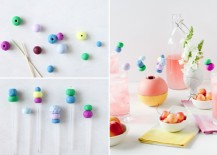 DIY clay drink stirrers from Paper & Stitch