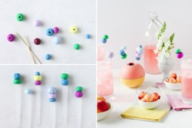 DIY clay drink stirrers from Paper & Stitch  12 Fabulous Summer DIY Projects DIY clay drink stirrers from Paper Stitch
