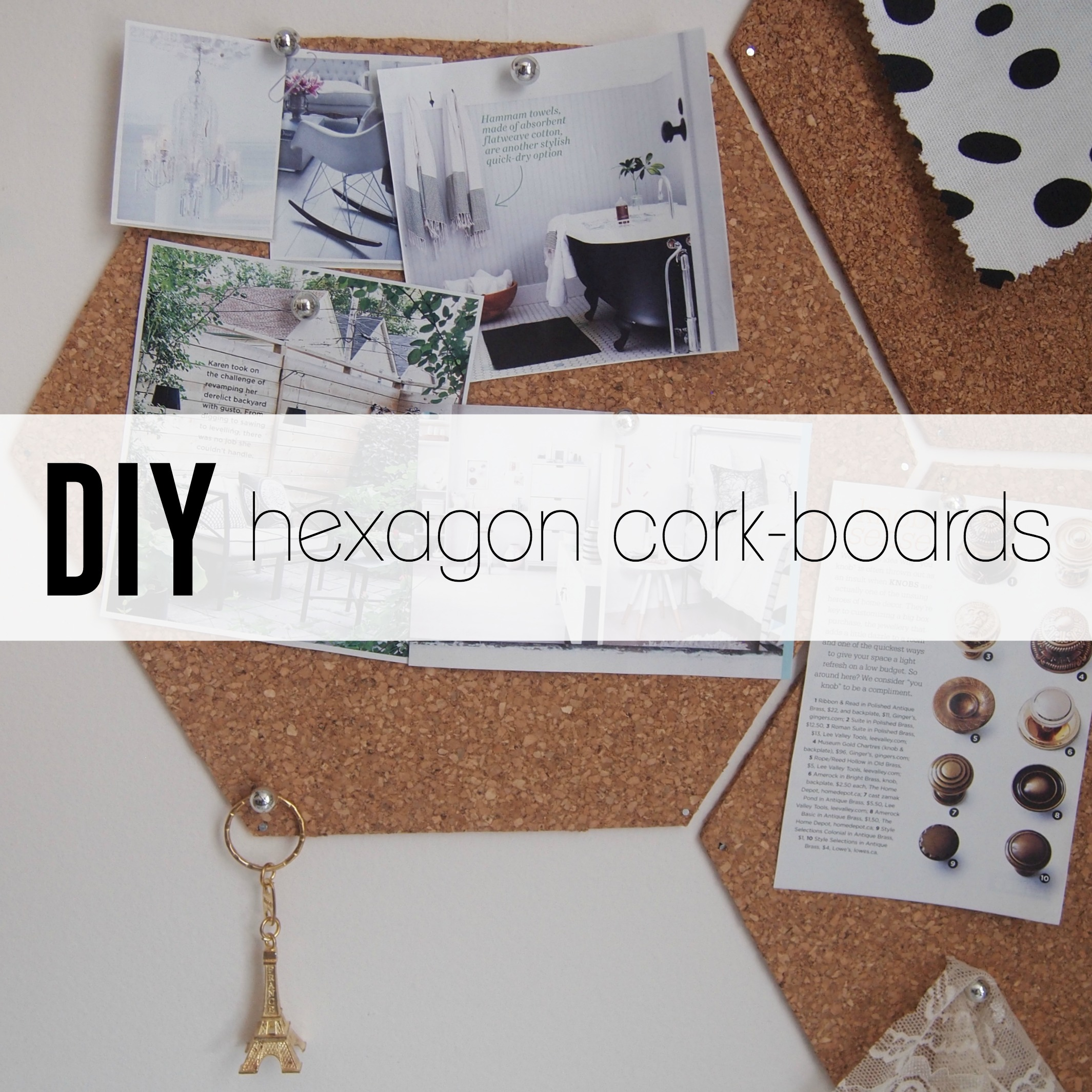 DIY hexagon cork-boards