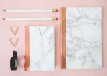 DIY marble notebooks from The Lovely Drawer