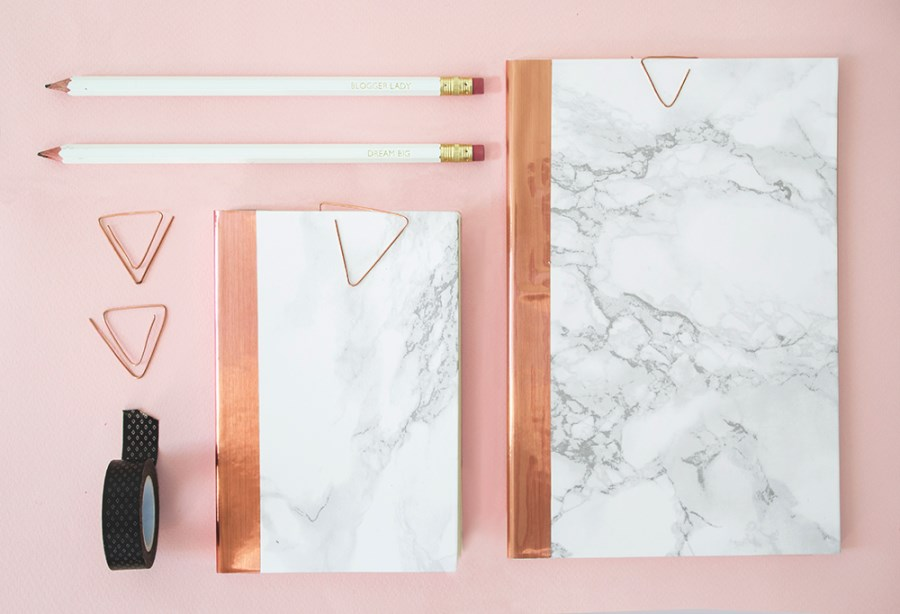 DIY marble notebooks from The Lovely Drawer  10 DIY Projects with Marble Style DIY marble notebooks from The Lovely Drawer