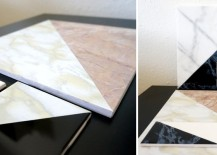DIY marble tile art from Mirror80 217x155 10 DIY Projects with Marble Style