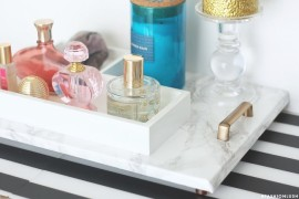 DIY marble tray from Fashionlush  10 DIY Projects with Marble Style DIY marble tray from Fashionlush 270x180