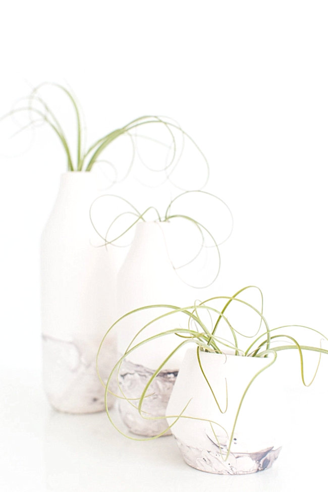 DIY marble vases from Sugar & Cloth