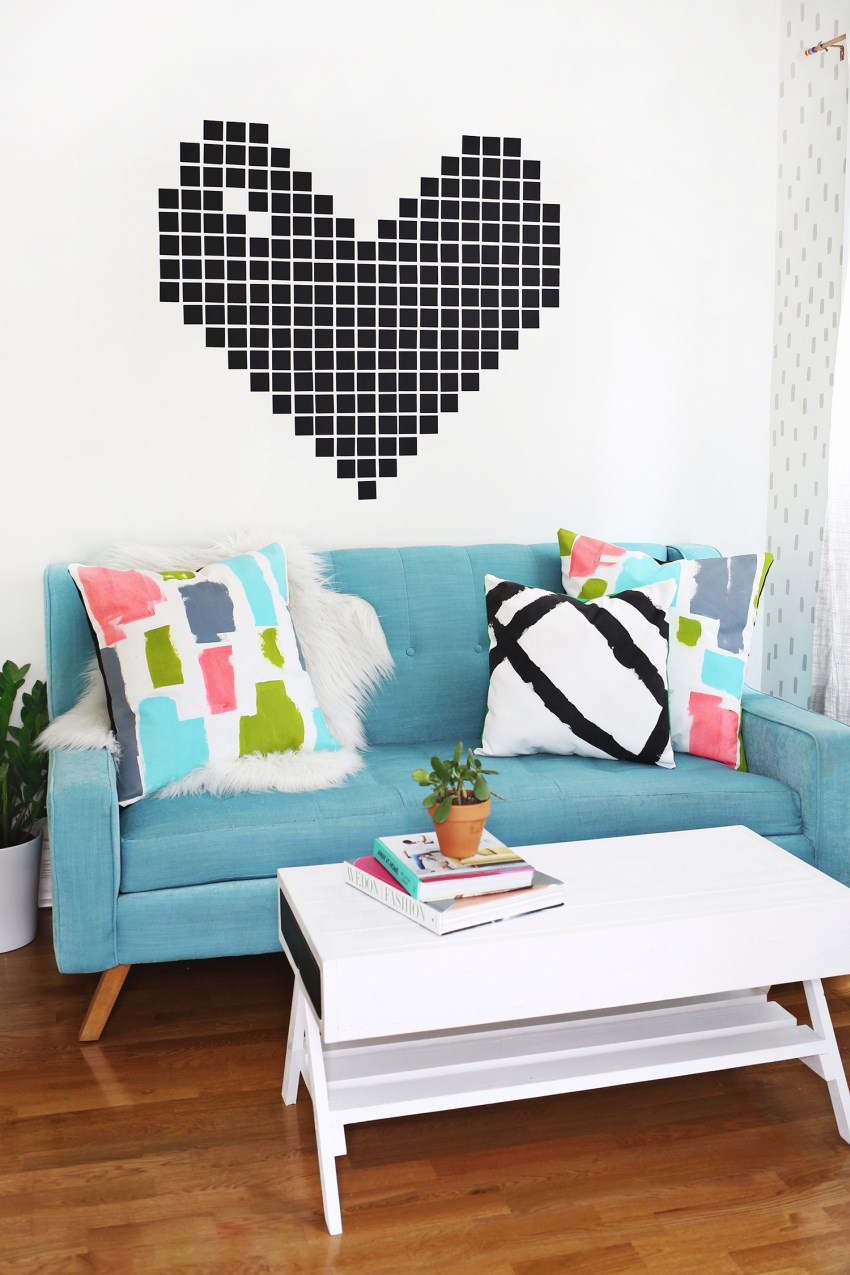 DIY painted pillows from A Beautiful Mess
