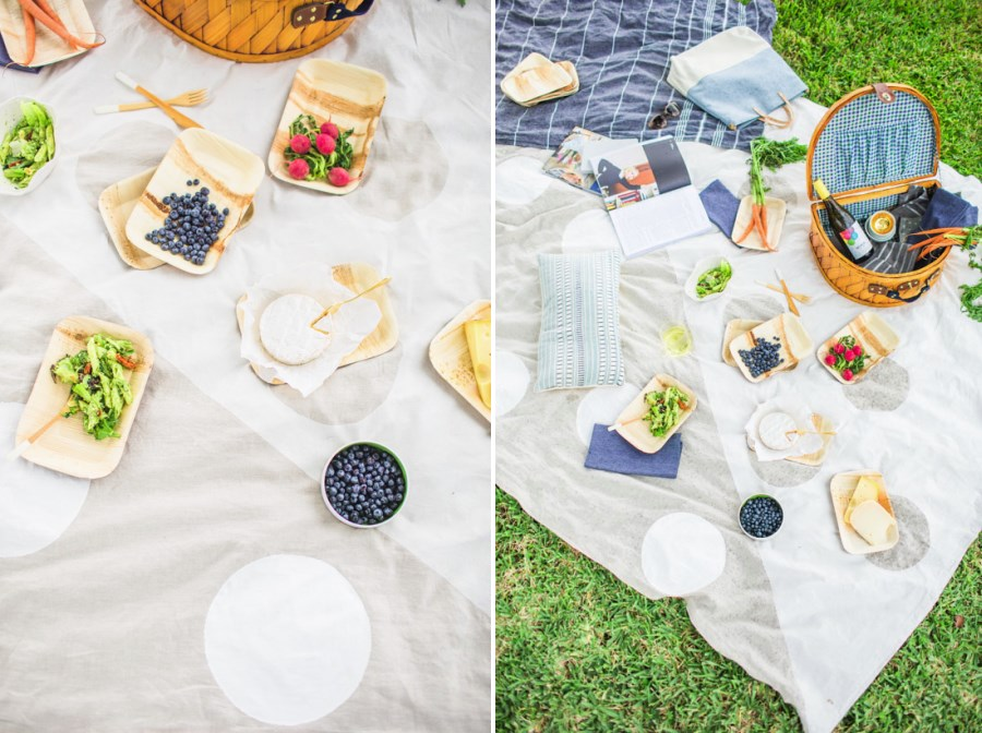 DIY picnic blanket from Paper & Stitch
