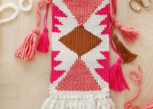DIY wall hanging from A Beautiful Mess