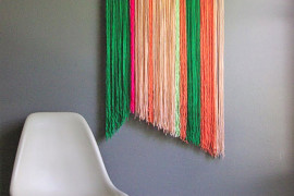 DIY yarn art from Oleander and Palm  12 Fabulous Summer DIY Projects DIY yarn art from Oleander and Palm
