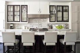 Dark trim on kitchen cabinetry  10 Unique Painting Ideas Featuring Black Trim Dark trim on kitchen cabinetry