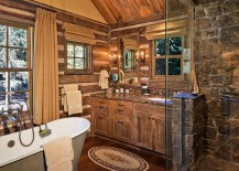 Dashing bathroom with country and rustic beauty [Design: Big-D Signature]