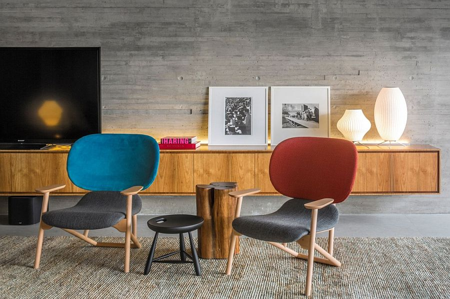 view in gallery decor in midcentury modern style adds to the ambiance of the lovely living space - Mid Century Decor