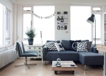 Decorating the small living room with elegance in Scandinavian style