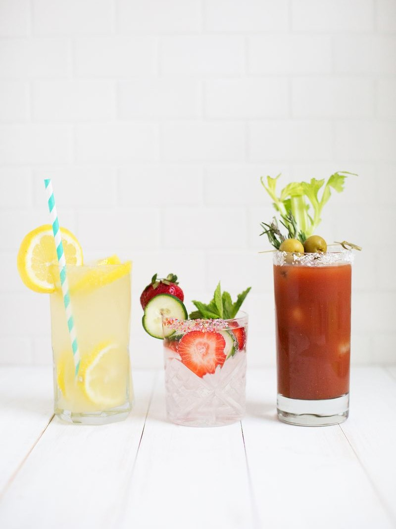 Delicious mocktails from A Beautiful Mess