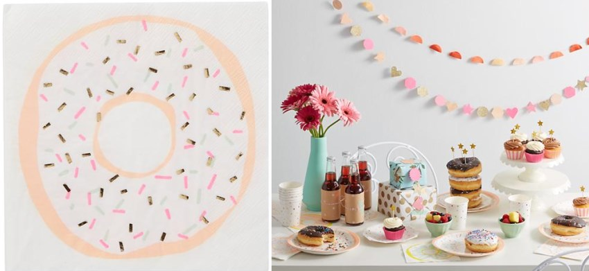 Donut party decorations from The Land of Nod
