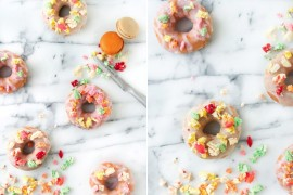 Donuts with macaron sprinkles from Paper & Stitch  Summer Party Ideas for a Festive Season Donuts with macaron sprinkles from Paper Stitch