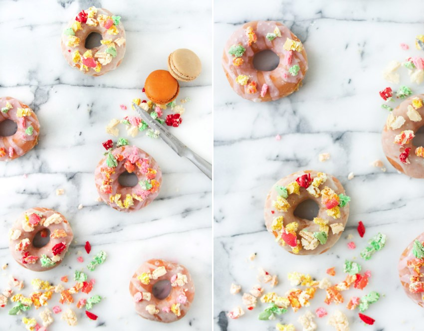 Donuts with macaron sprinkles from Paper & Stitch