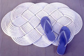 Doormat DIY from Martha Stewart  12 Fabulous Summer DIY Projects Doormat DIY from Martha Stewart
