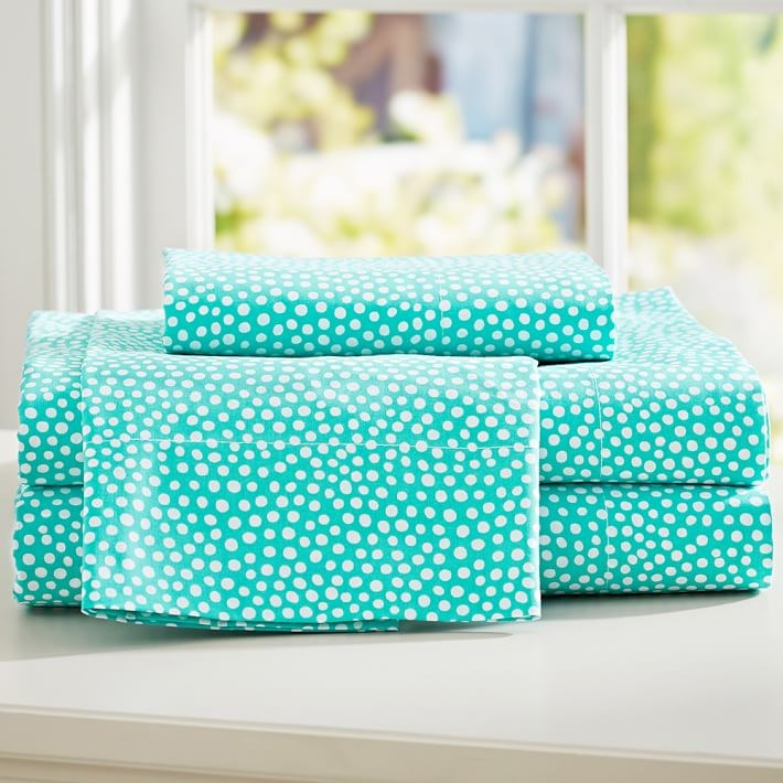 Dotted sheet set from PB Teen