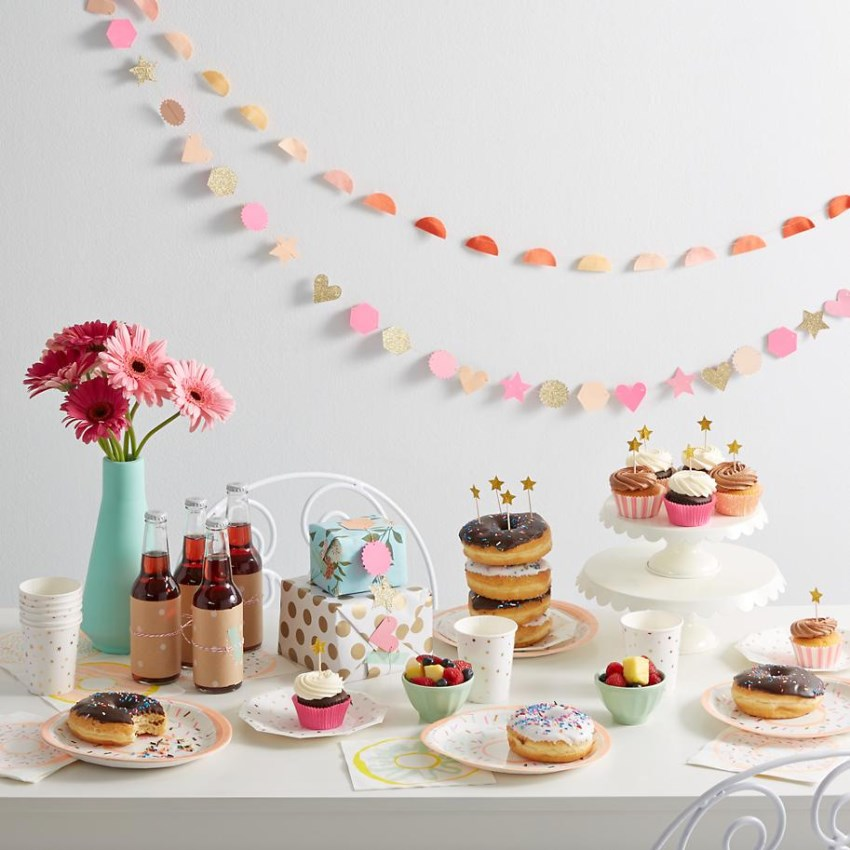Doughnut party supplies from The Land of Nod