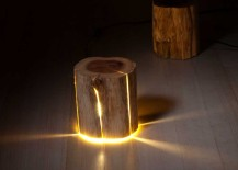 Duncan Meerding's Cracked Log Lamp
